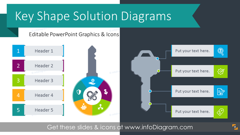 Key Shape Solution Diagrams (PPT Template)