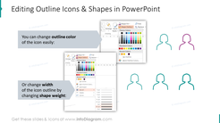 Editability of outline icons & shapes in PowerPoint