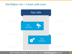 Flat Ribbon List – 2 items with icons