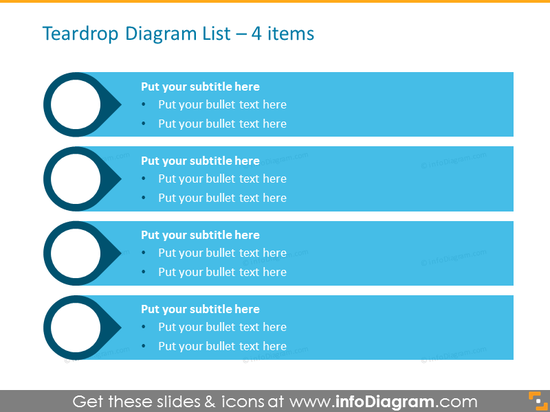 Smartart Template List for placing 4 items