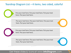 EditableInfographicTemplate for agenda with textboxes for  4 items, two-sided
