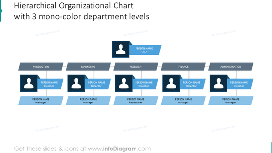 Example of the hierarchical organization chart
