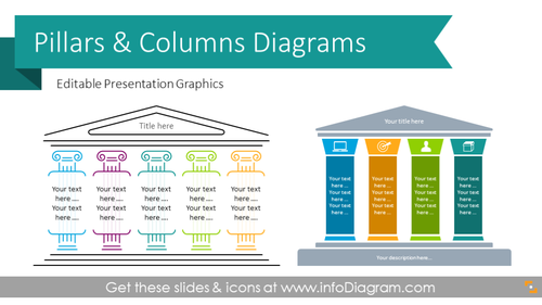 Pillar Diagrams and Column Infographics (PPT Graphics)