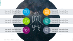Space shuttle graphics with two columns list