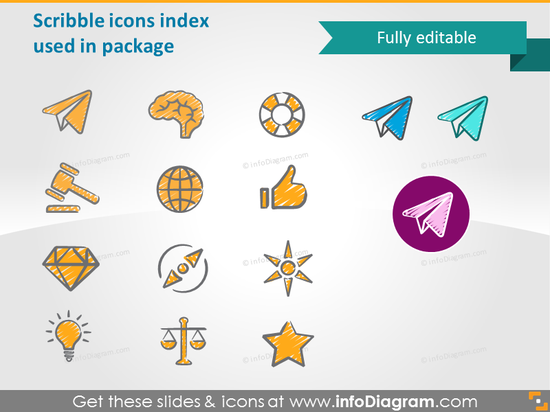 Scribble icons index used in package