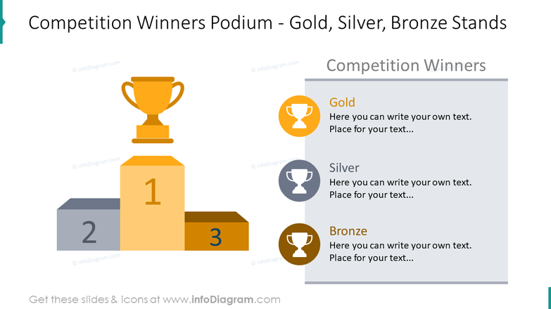 Competition winners podium slide