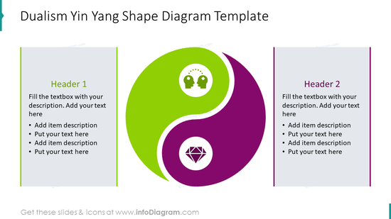 Dualism Yin Yang shape diagram