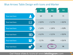 Monolor Arrows-shaped Table
