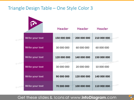 Fancy Table in Powerpoint Example