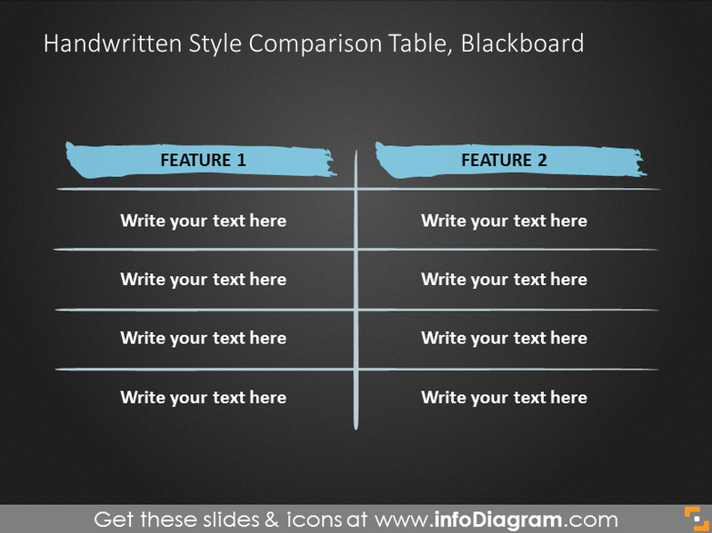 Powerpoint Table Blackboard Template
