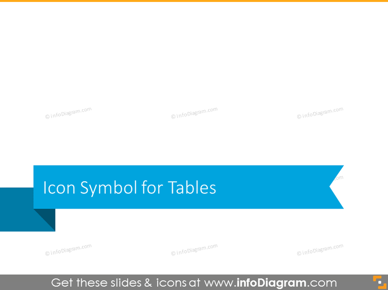 Icons for Tables