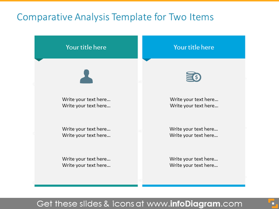 Two Items Comparative Analysis table Template