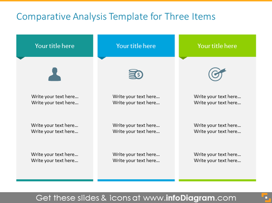 Three items Comparative Analysis Template