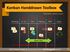 Creative Kanban Boards for Project Management (PPT icons & tables template)