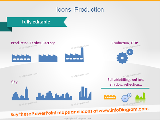 icons production factory city powerpoint clip art