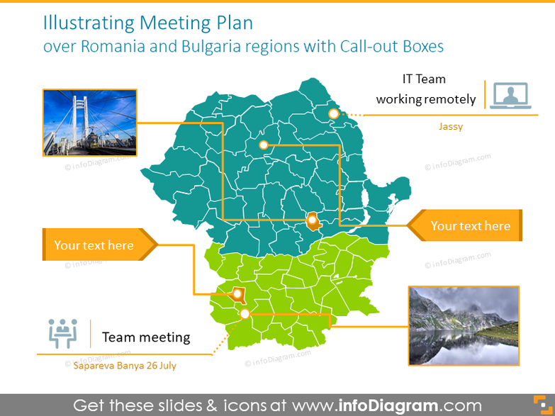 Meeting Plan over Romania and Bulgaria regions