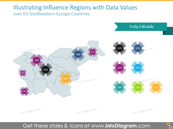Regions with Data Values over EU Southeastern Europe Countries