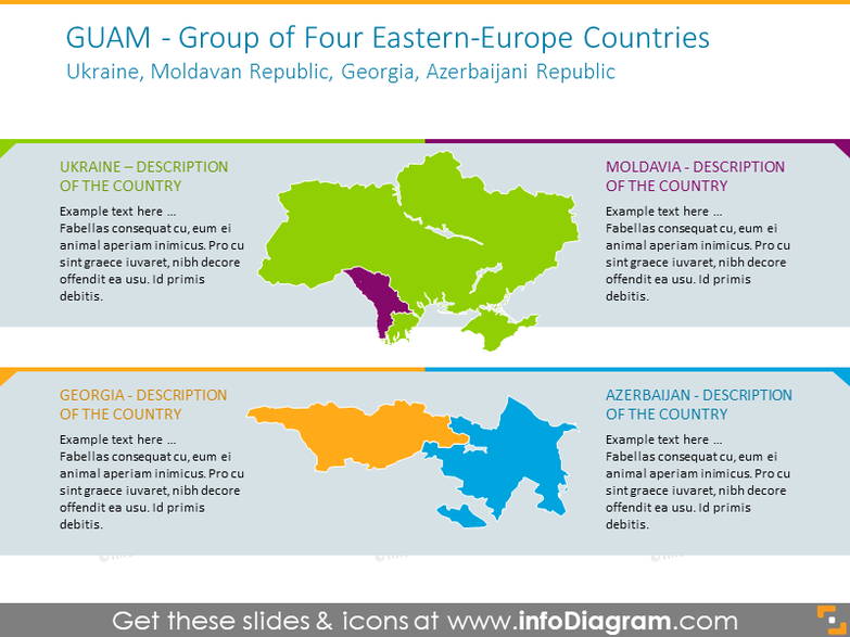 Four Eastern-Europe Countries map