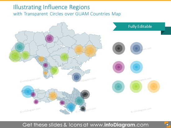 Influence Regions​ with Transparent Circles