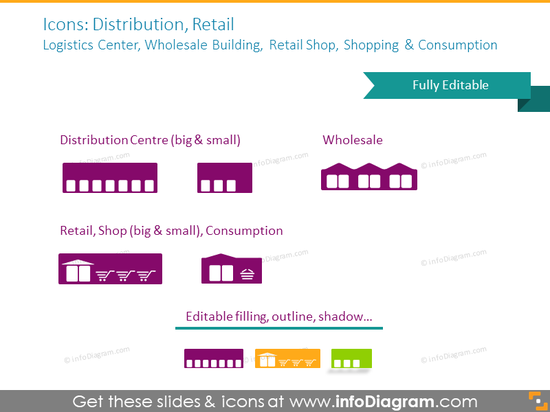 Distribution and Retail​ icons