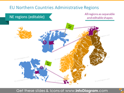 Northern countries administrative regions map