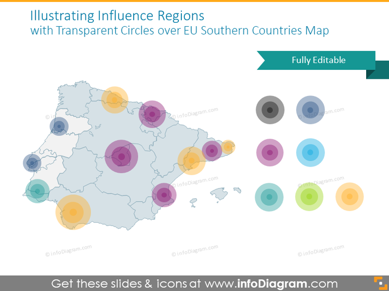 Southern Europe influence regions map