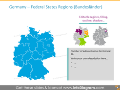 Germany federal states map
