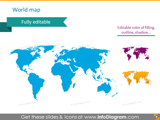world map powerpoint clipart