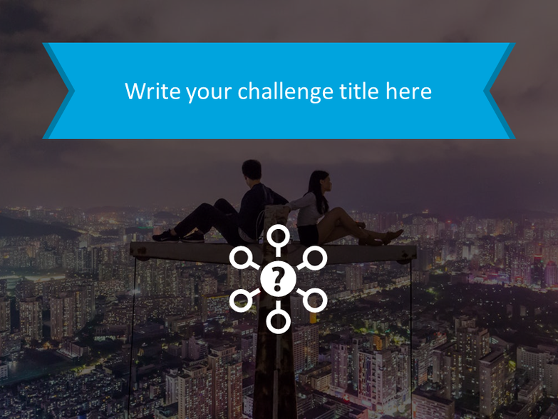 Challenge statement with the background image