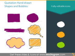 Example of hand-draw shapes and bubbles set