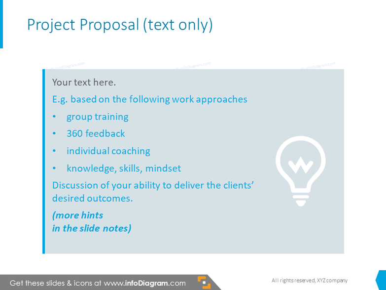 Example of project proposal slide