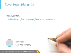 Cover letter template with call to action picture