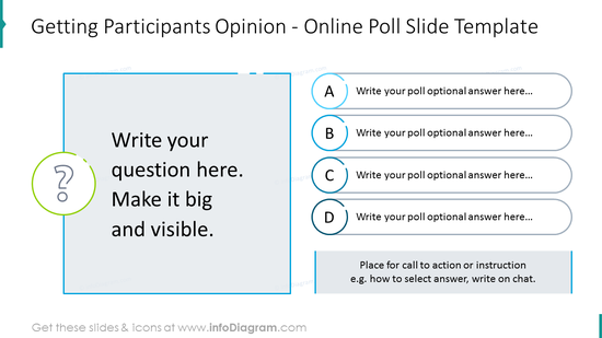 Getting participants opinion: online poll slide template