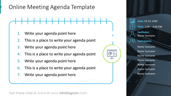 Online meeting agenda template