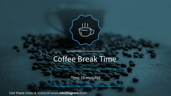 Coffee break time slide
