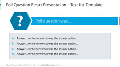 Example of poll question with space for answers