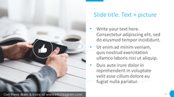 Text slide template with icons and bullet points
