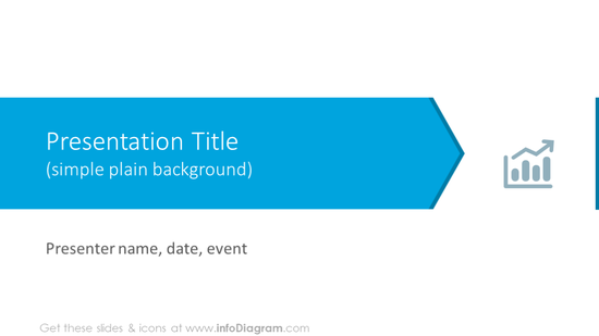Example of slide with simple plain background