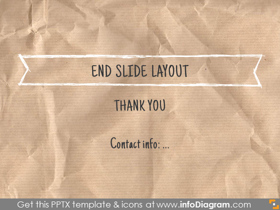 end closing slide layout white frame banner