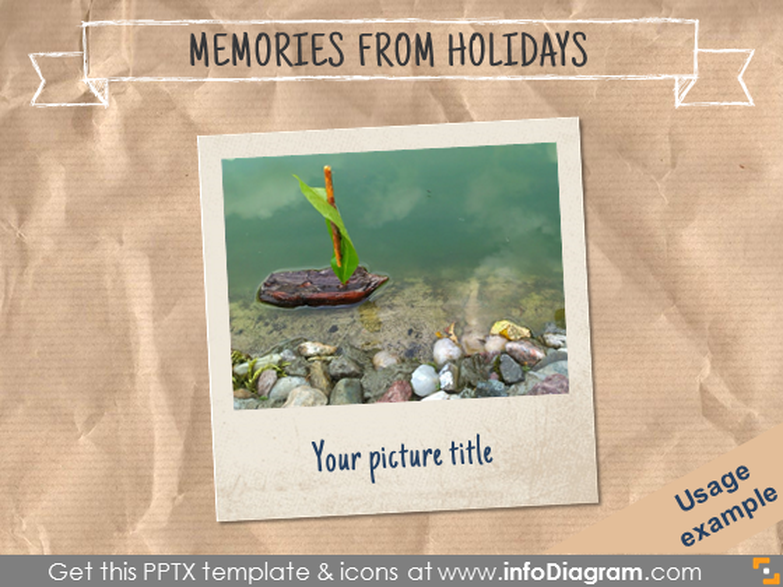 Picture frame slide Crumpled Paper background template