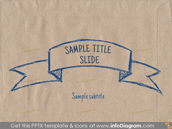 title slide layout ecopaper banner pencil sketch pptx template