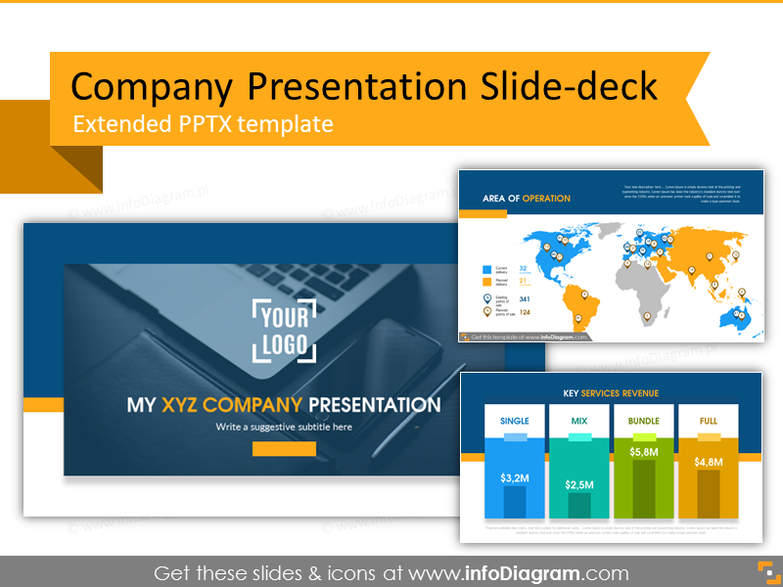 Company Presentation Template and Slide Deck (PPTX)