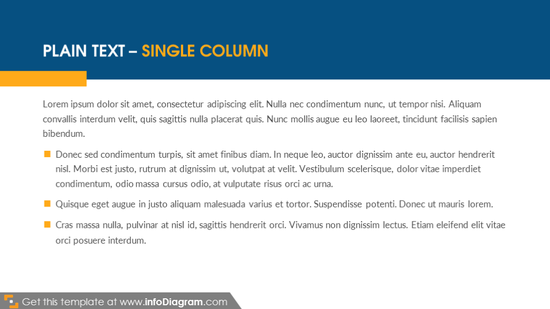 Plain text – single column