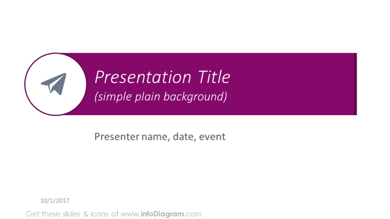 Presentation title with a space background