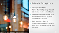Text slide template completed with picture