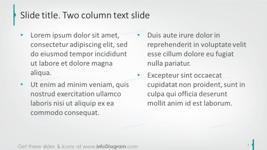 Two column text slide