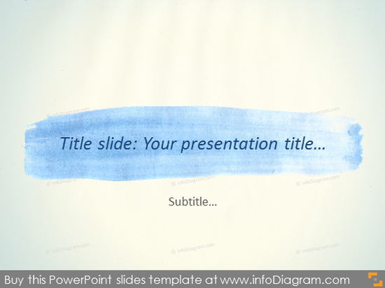 Watercolor Presentation Title Slide Template PowerPoint Stripe