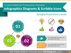 Creative Slideshare Presentation Timesaver Infographics (scribble PPT icons and diagrams)