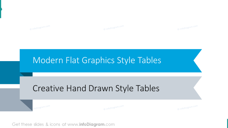 Modern flat graphics tables