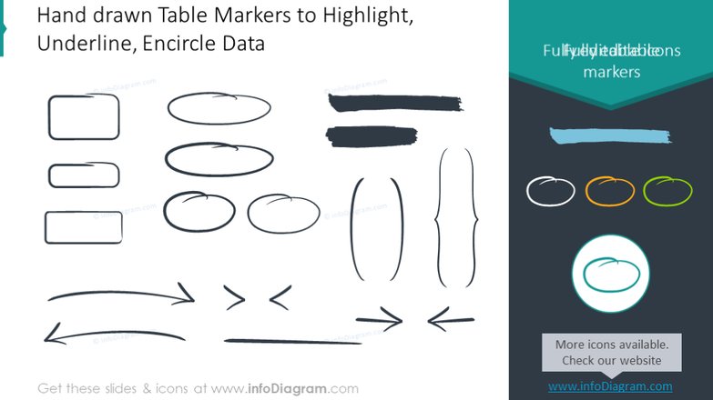 Hand drawn table markers